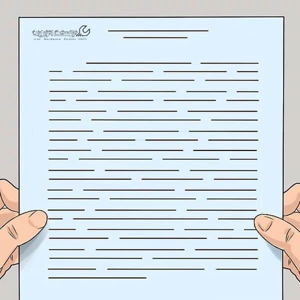 انتخاب نوع کاغذ